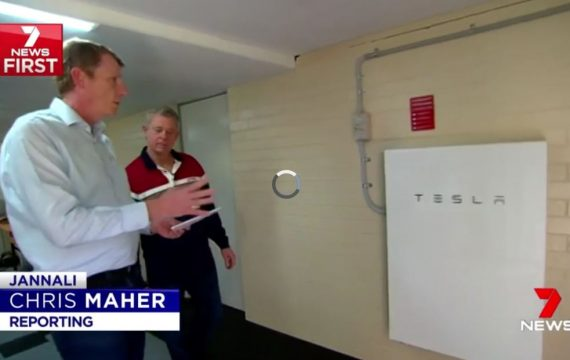 Solaray Tesla Powerwall 2 Installation Channel 7 News